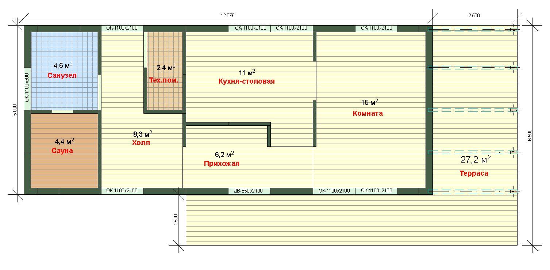 Планировка каркасного дома Парус