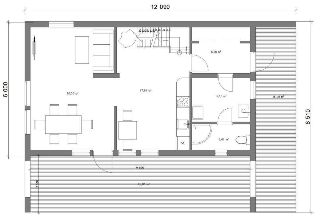 Классик 100-2Сб 1 этаж