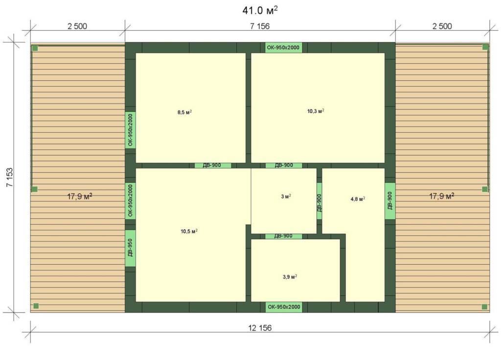"""Проект каркасного дома """"ВИВАЛЬДИ 41"""" - цена под ключ"""