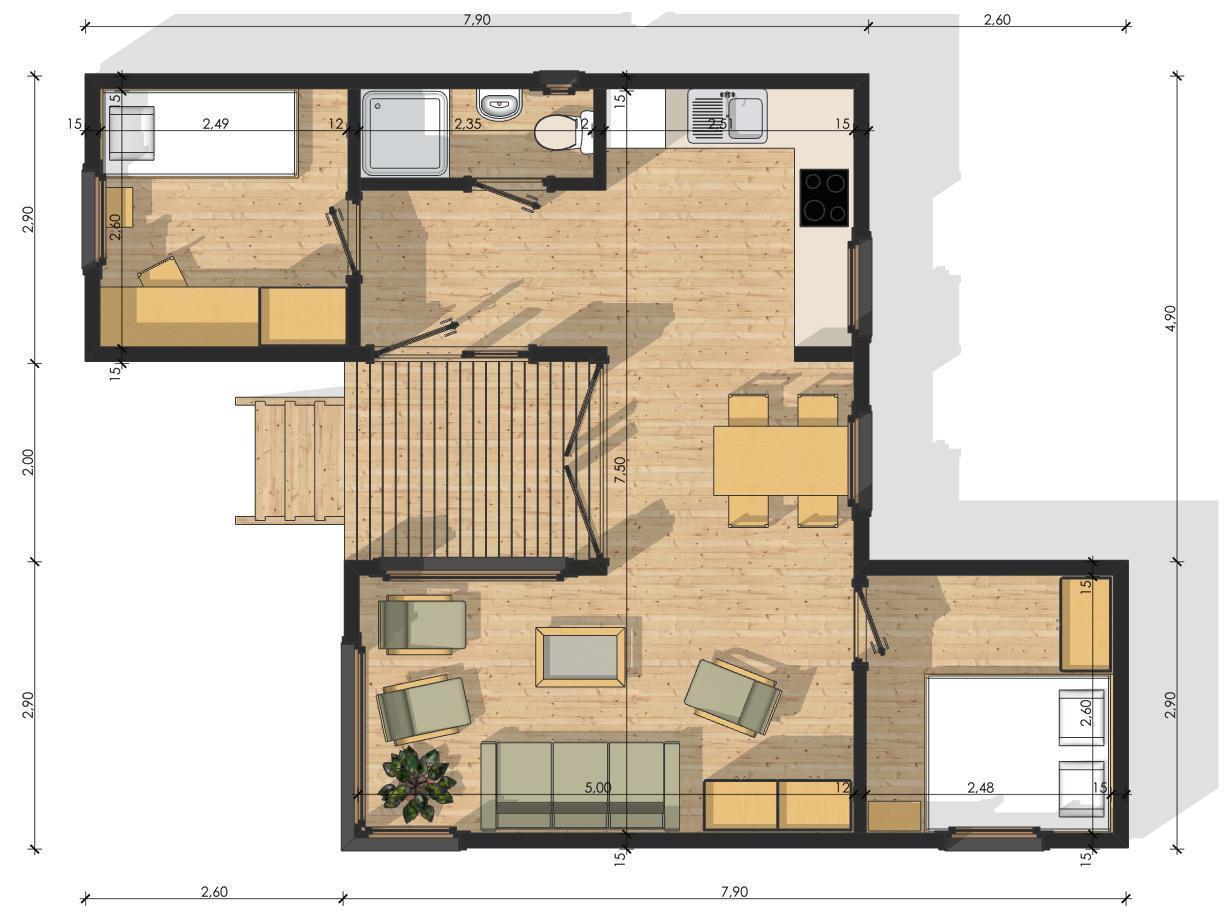 """Проект модульного дома """"Модуль 45"""""""
