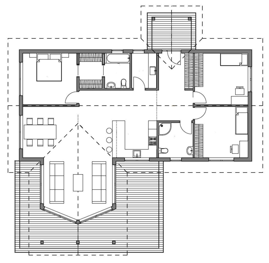 Проект каркасного дома 18