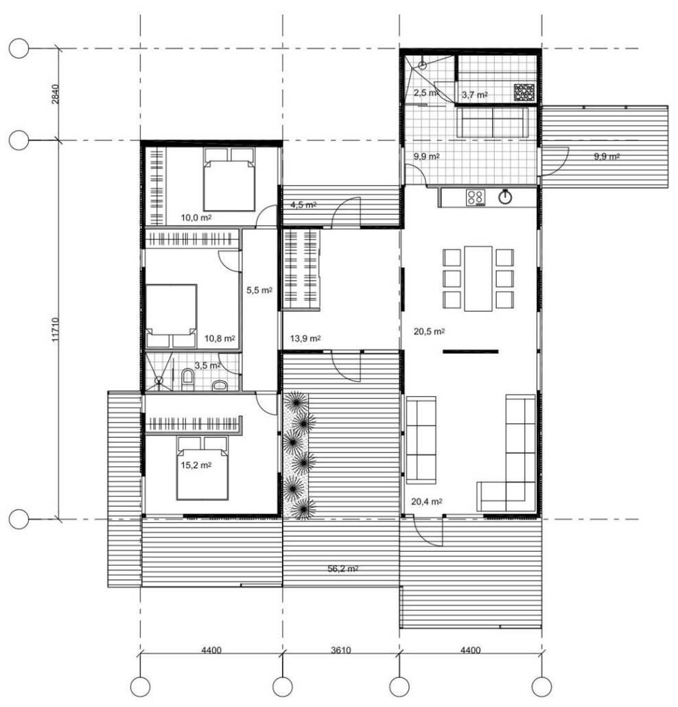 """Проект каркасного дома """"Солярис 116-1П"""""""
