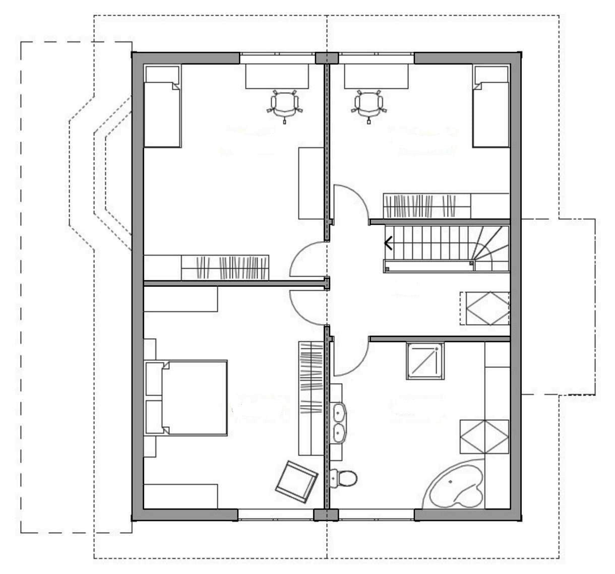 Проект каркасного дома 19