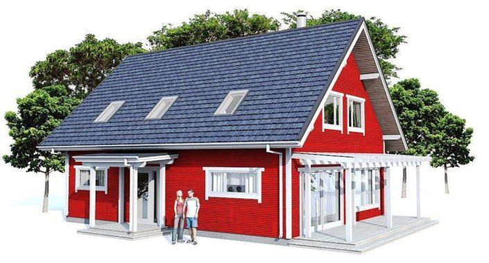 Проект каркасного дома 20