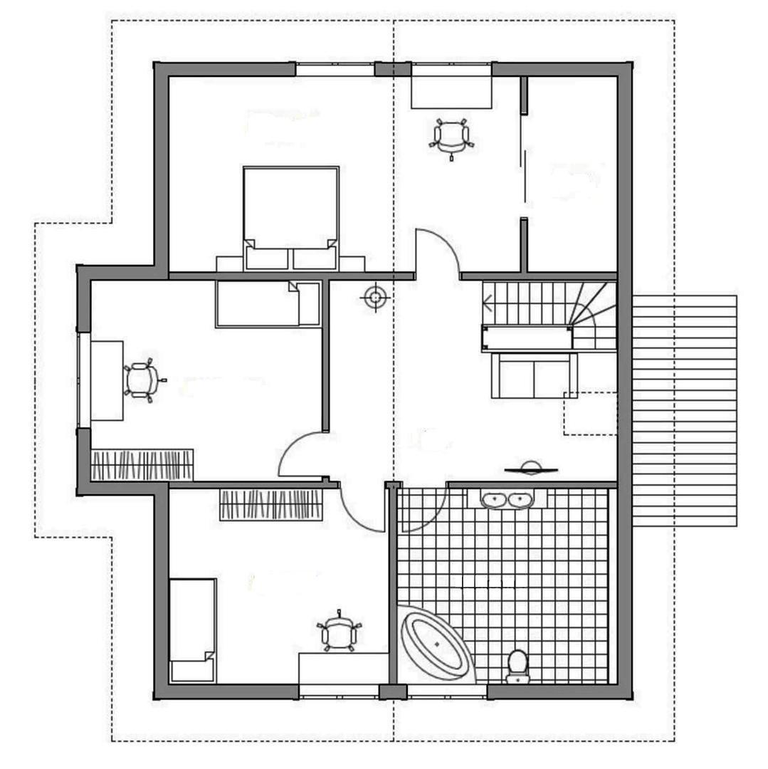 Проект каркасного дома 21