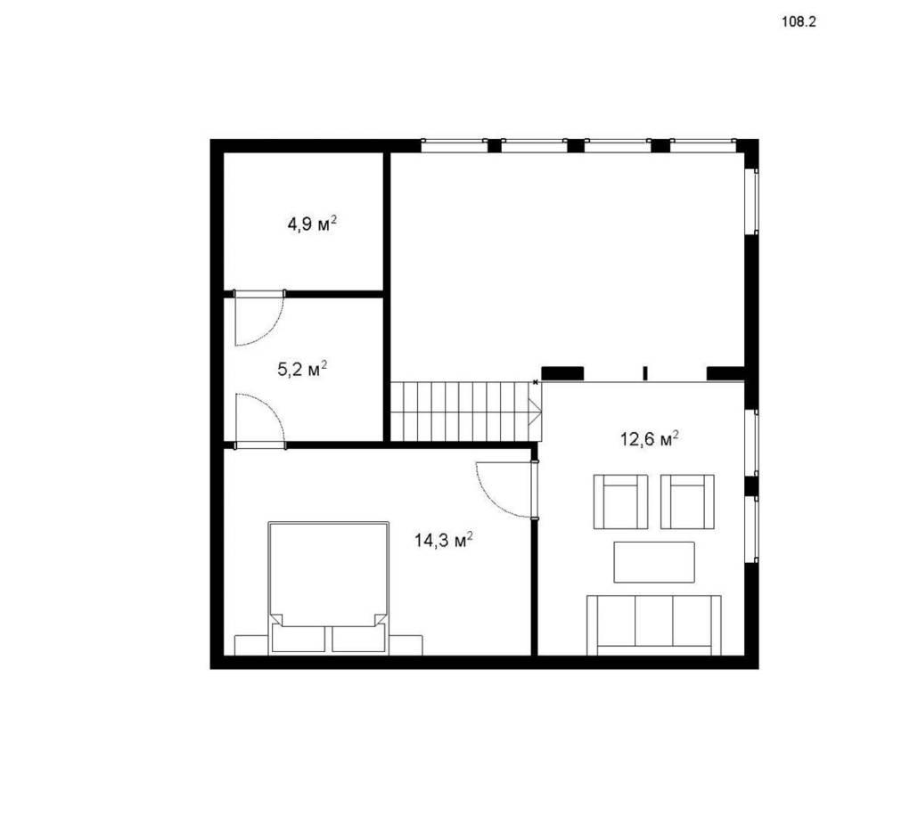 """Проект каркасного дома """"АПОЛЛО 108-2С"""" - цена под ключ"""