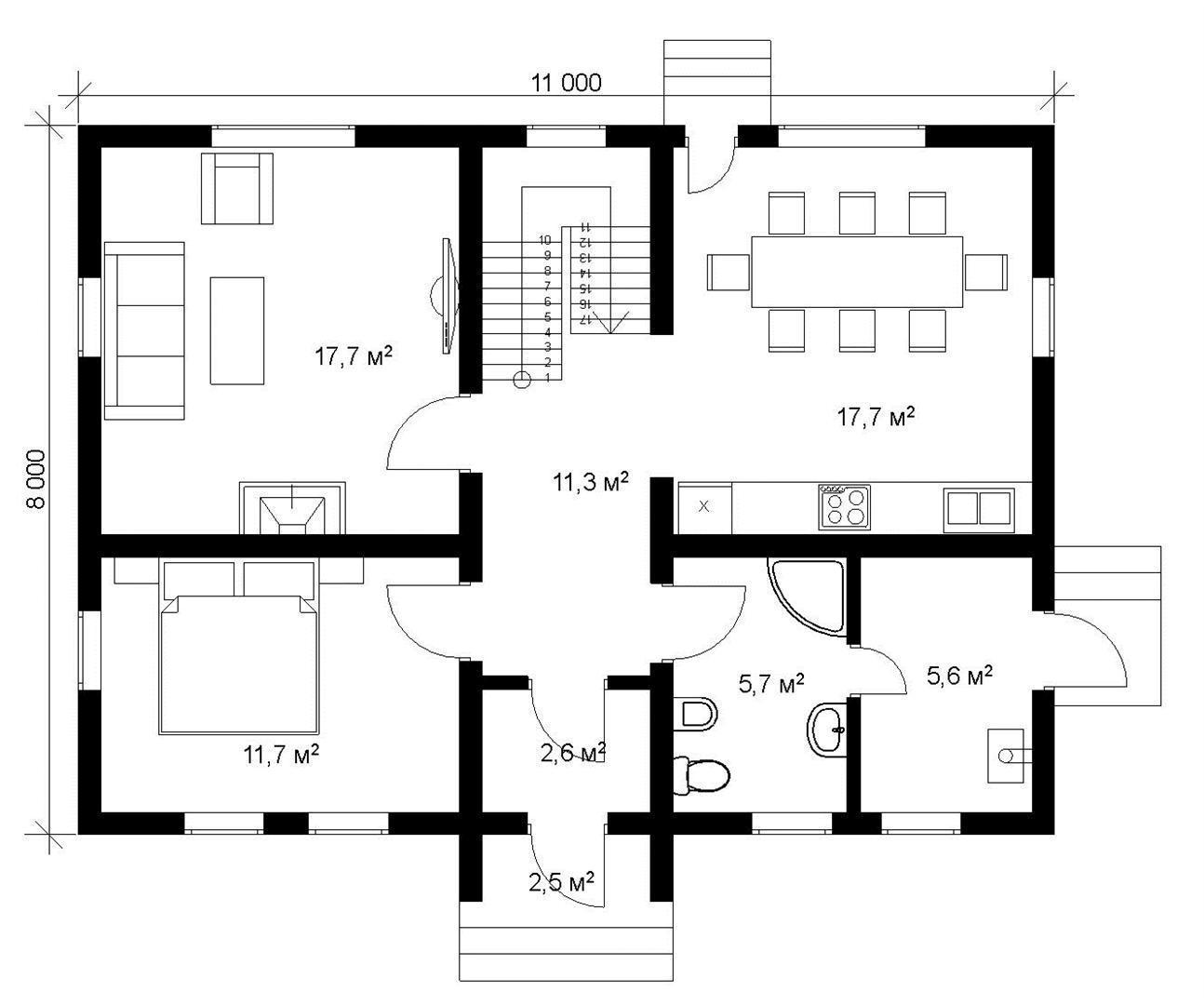 """Проект каркасного дома """"ЛОНДОН 120-2С"""" - построить под ключ цена"""