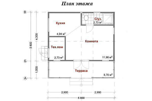 """Проект каркасного дома """"ДАЧНЫЙ 25-1С"""""""