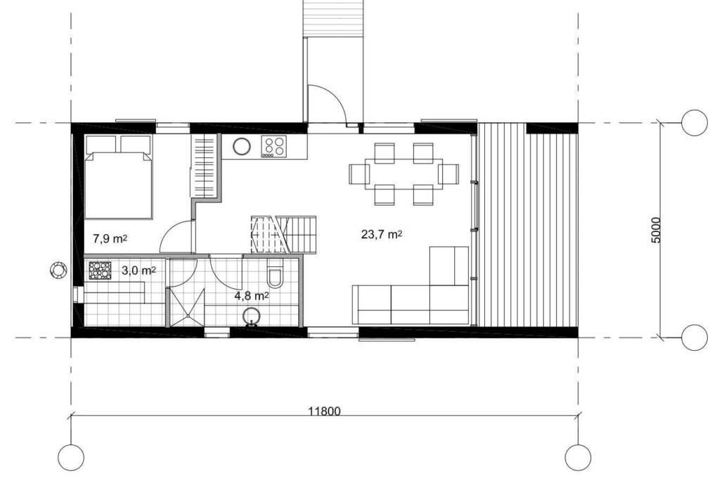 Проект строительства каркасного дома ЭКО КЛАССИК 56-2С