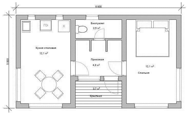 "Проект каркасного дома ""НЕВО 34-1П"" - цена строительства под ключ"