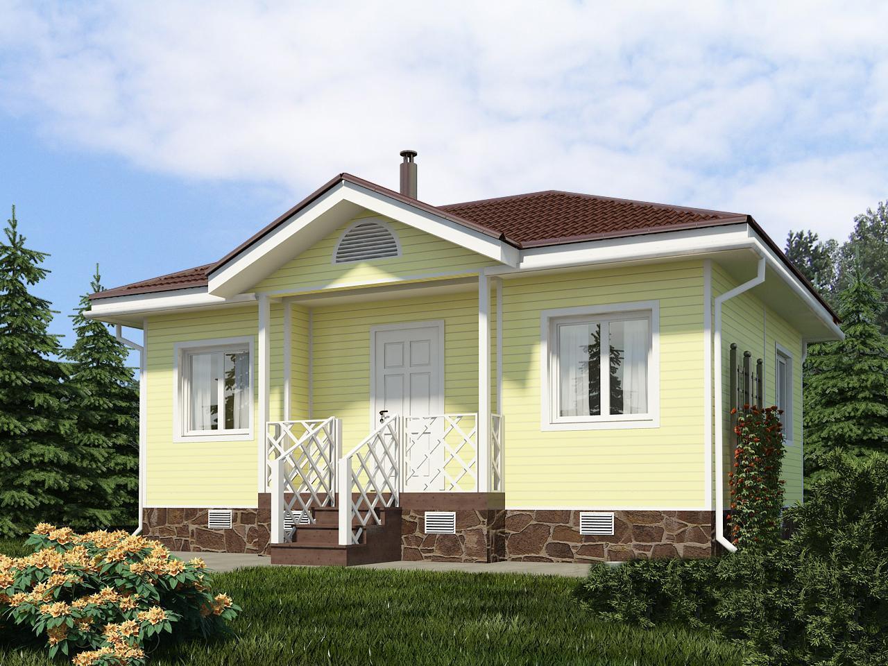 "Проект каркасного дома ""Дачный 42-1П"""