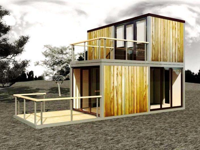 Дачный модульный дом 2,5х14