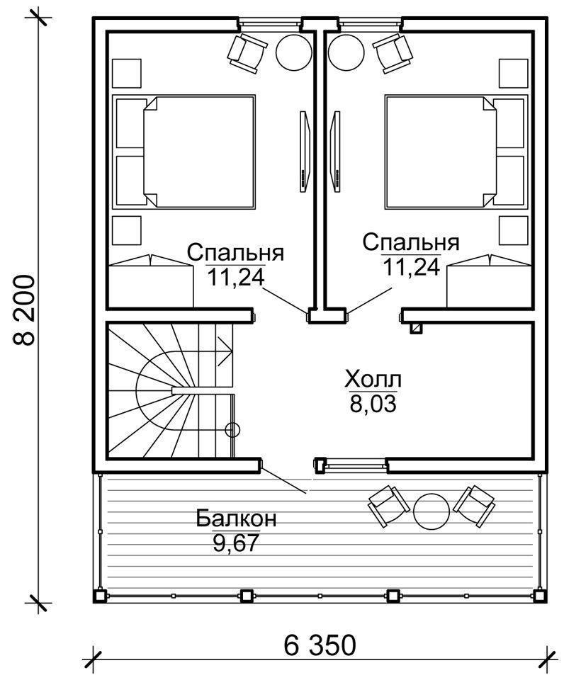 """Проект каркасного дома """"КЛАССИК 70-1,5С"""""""