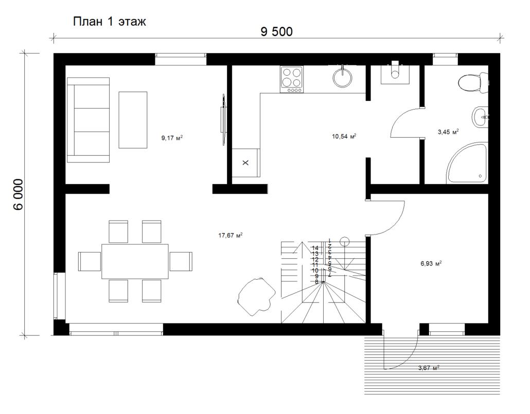 Каркасный дом 1 этаж