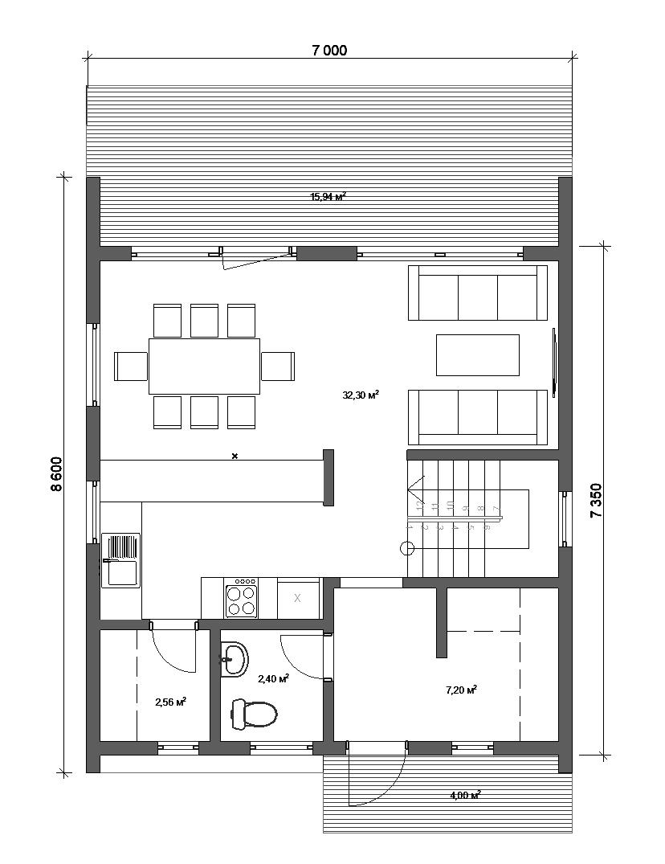 Дом барн 1 этаж