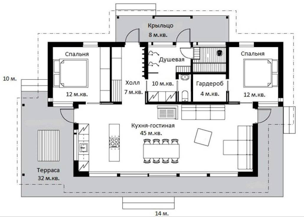 Проект каркасного дома СПб