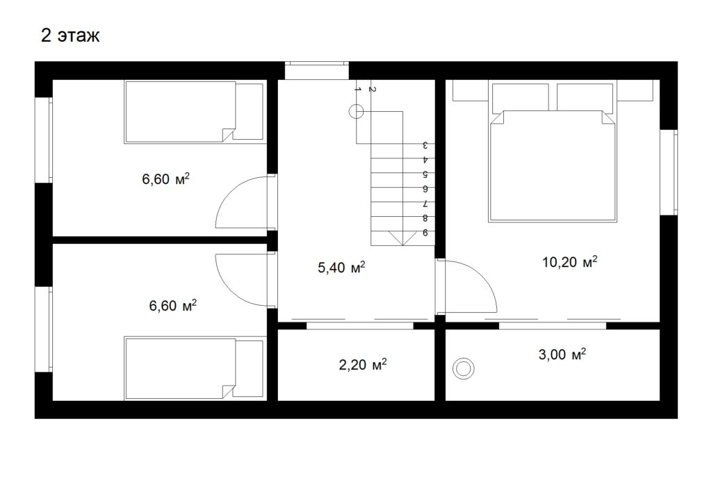Каркасный дом с мансардой 5х9