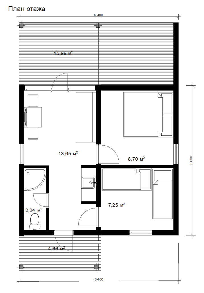 Проект компактного модульного дома