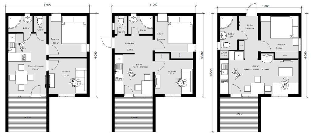 Модульный дом 6х6
