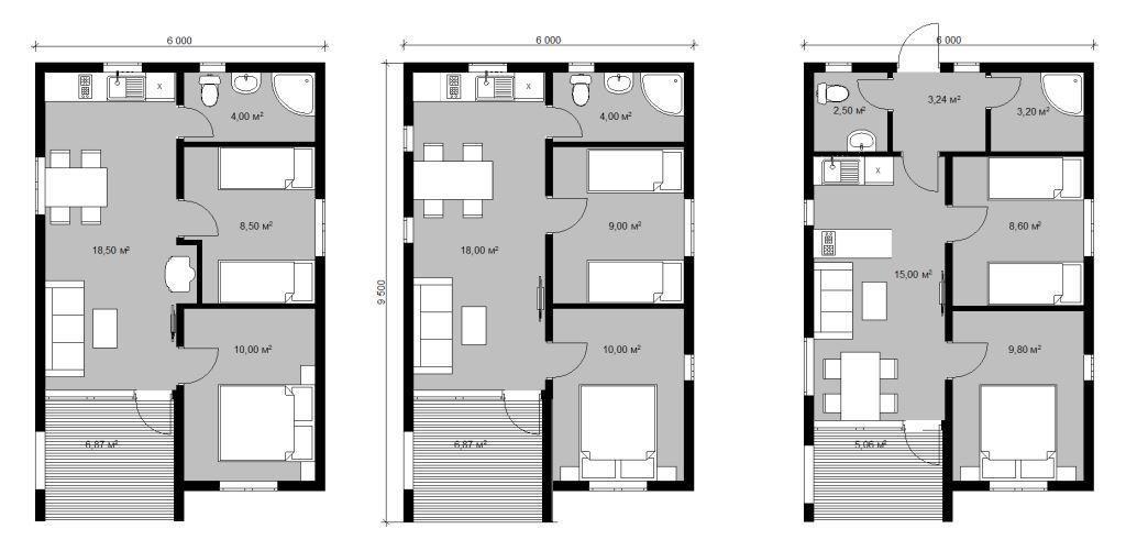 Одноэтажный МОДЕРНдом проект 6х9,5