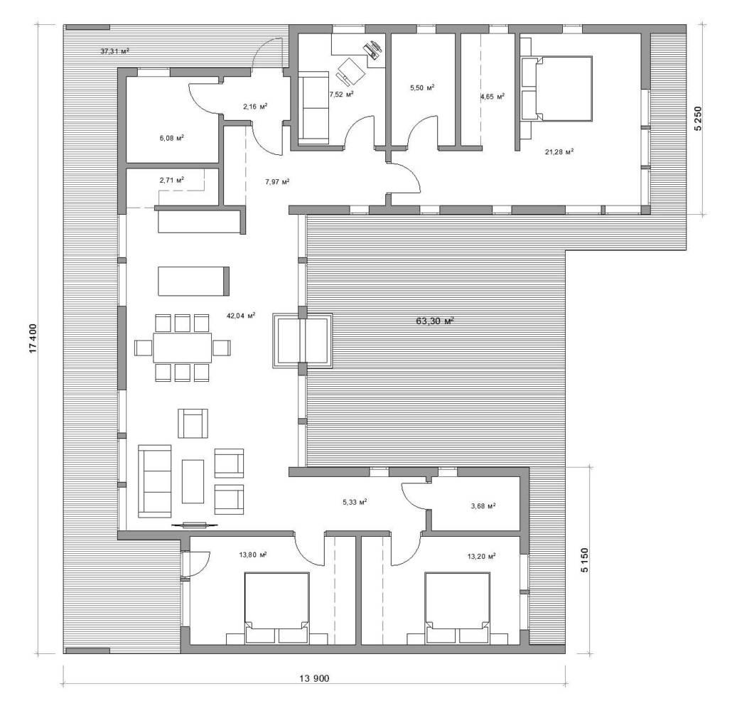 Планировка Рубус 132-1В