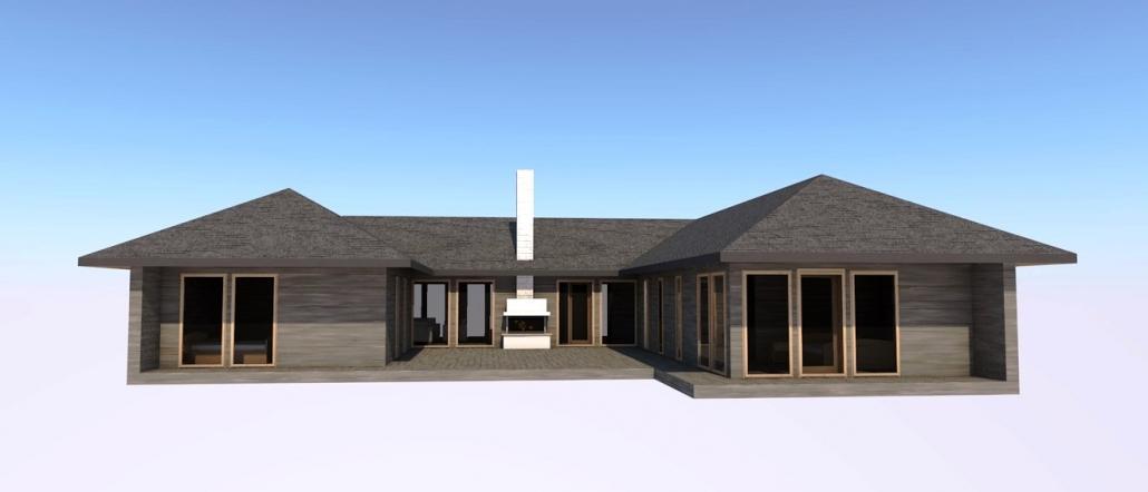 Проект дома с внутренним двором
