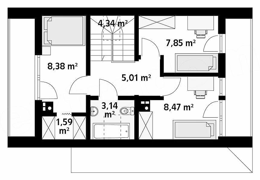 проект дома 80 м.кв.