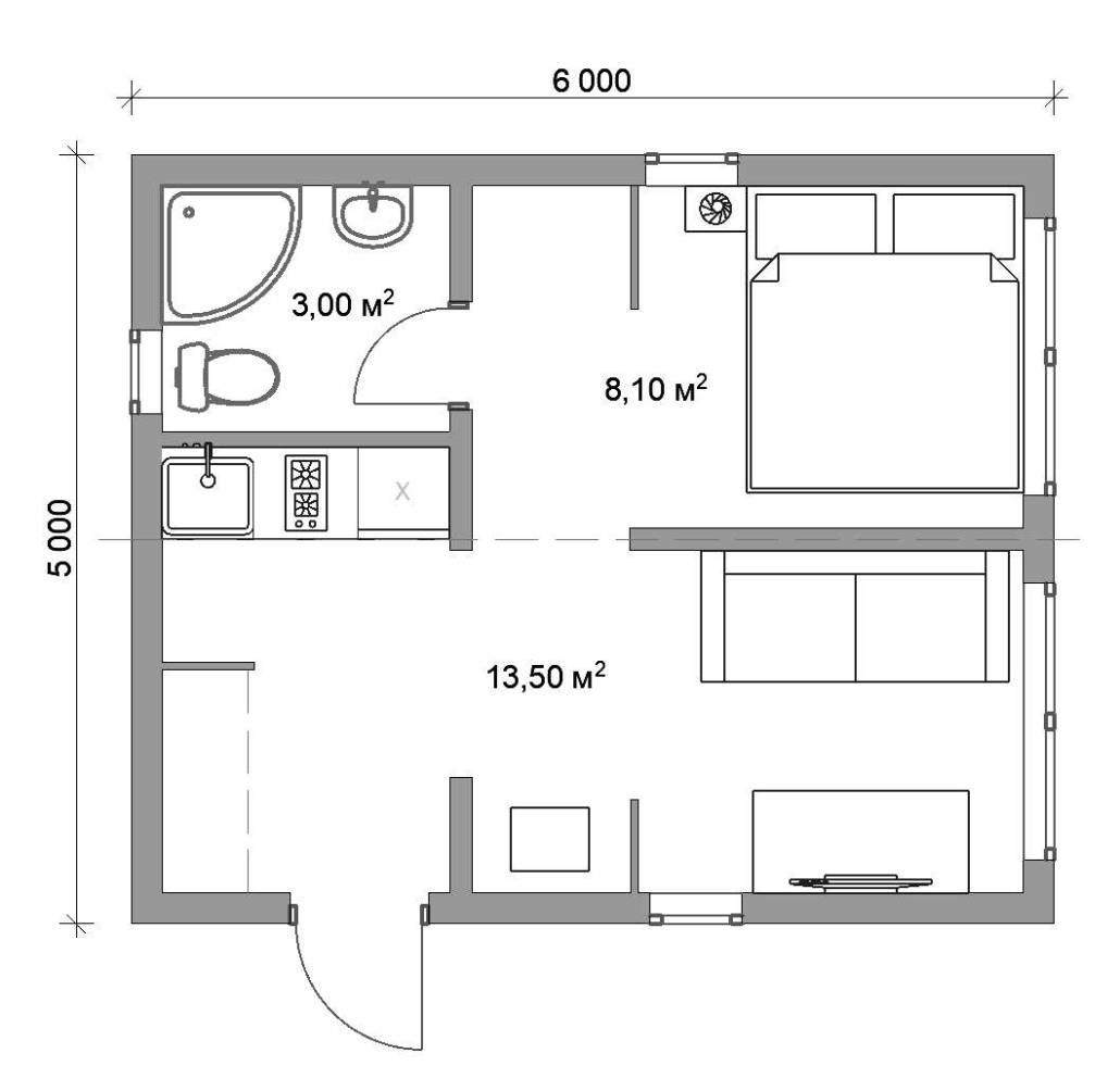 Модульный гостевой домик
