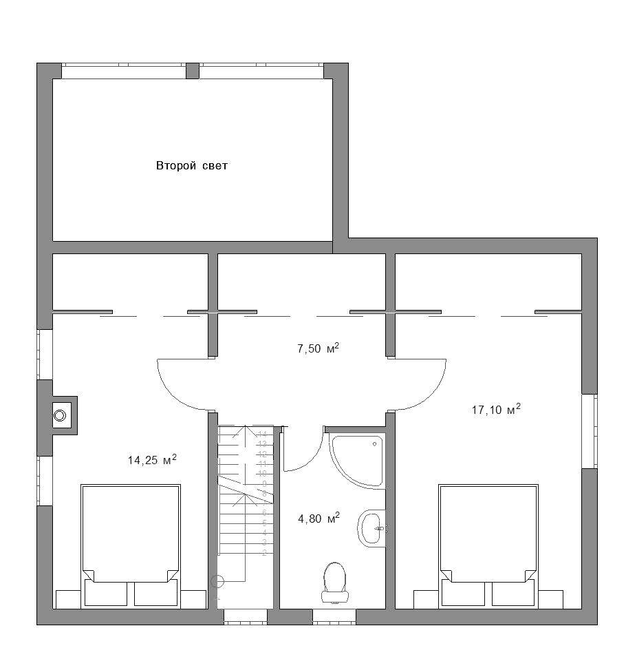 Планировка дома 100 м.кв.