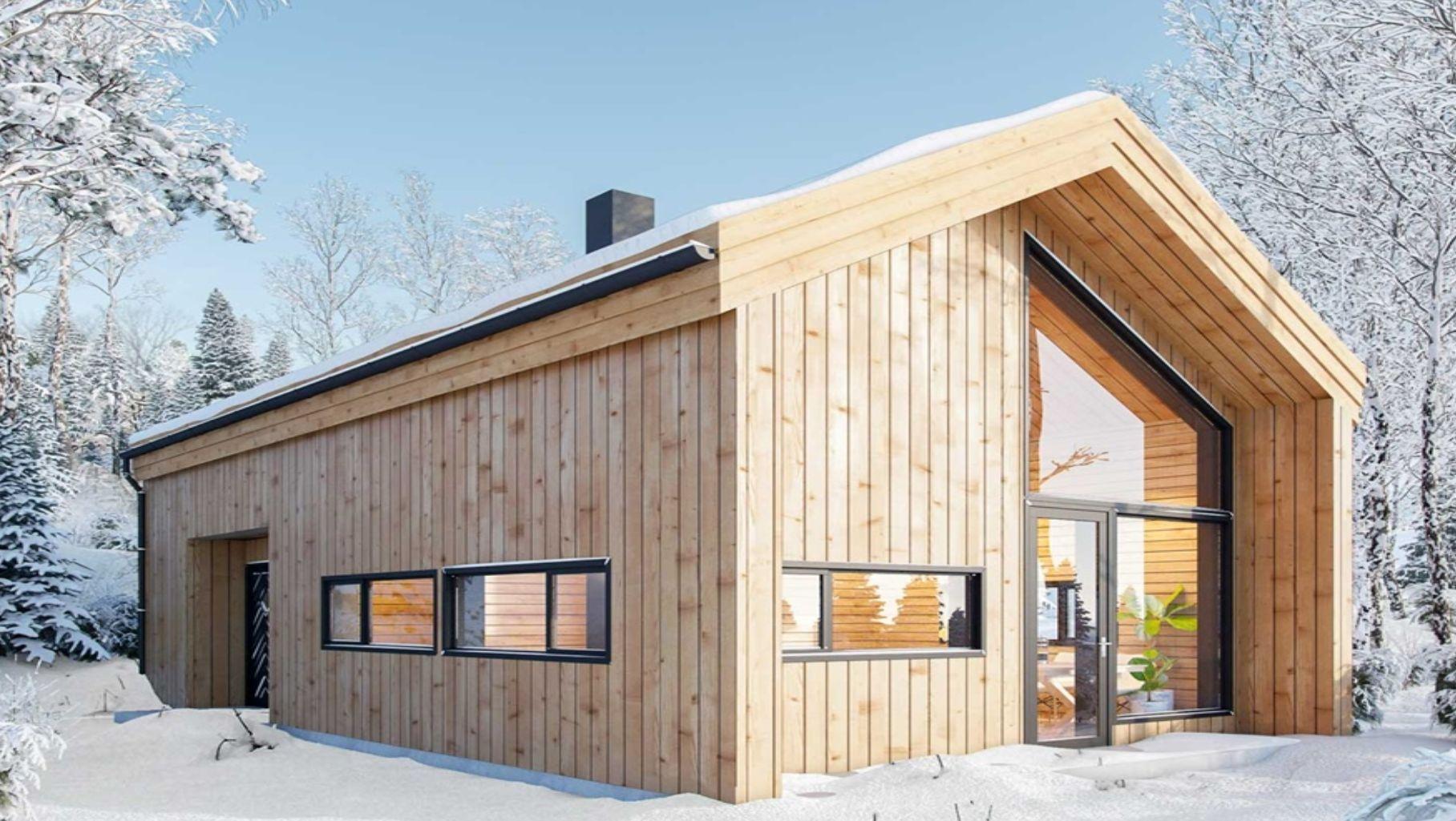Проект зимнего загородного дома
