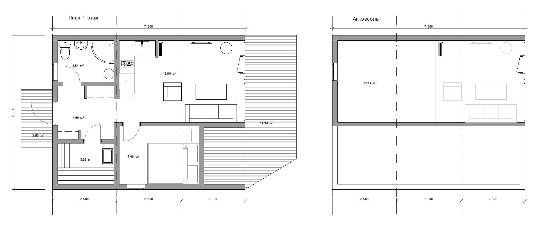 Планировка модульного дома