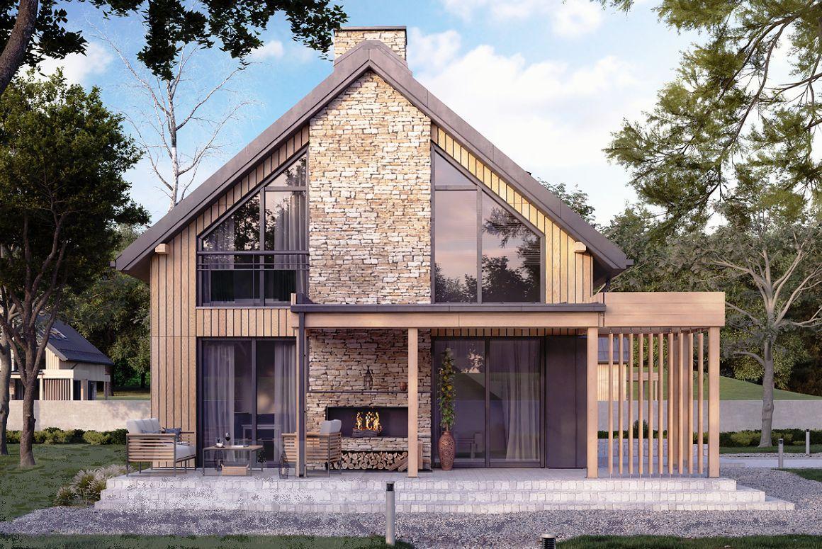 Проект классического загородного дома