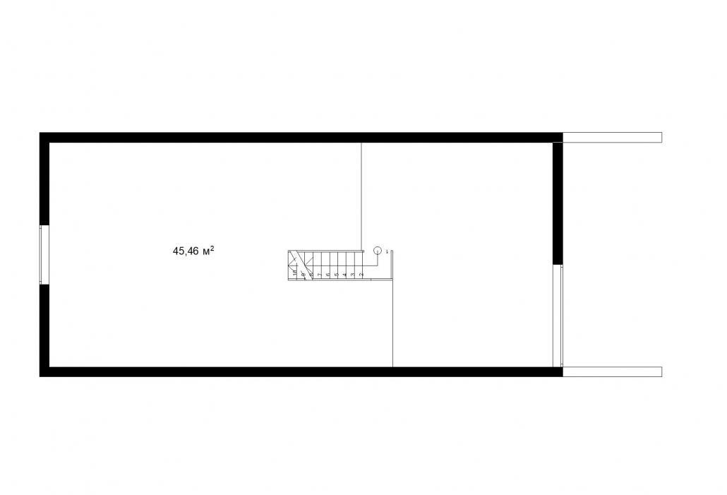 Барнхаус с гаражом 2 этаж