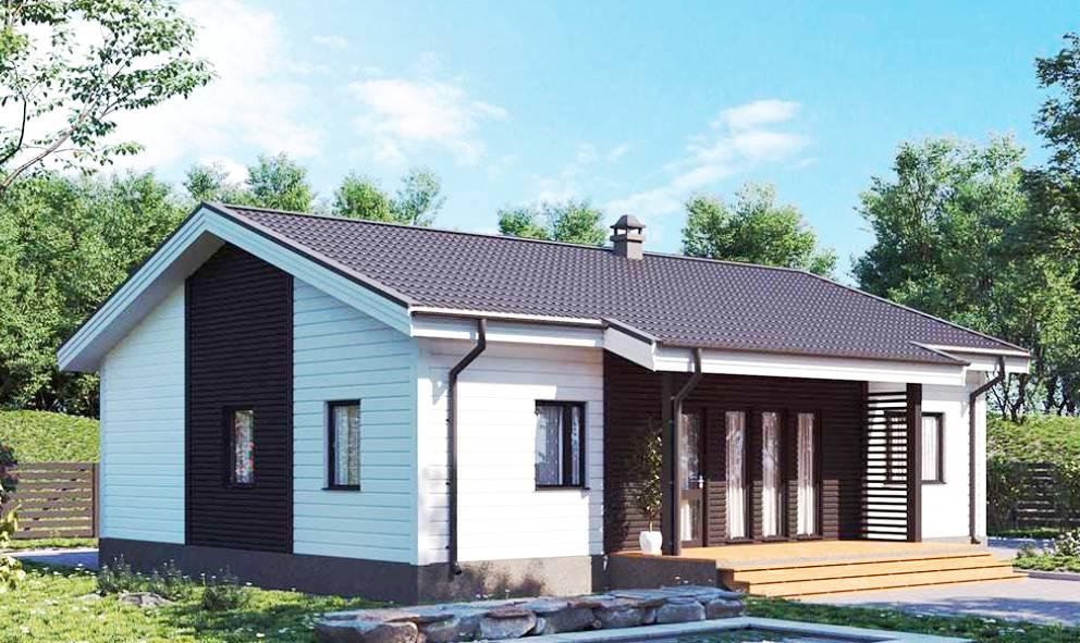 Проект одноэтажного загородного дома в СПб