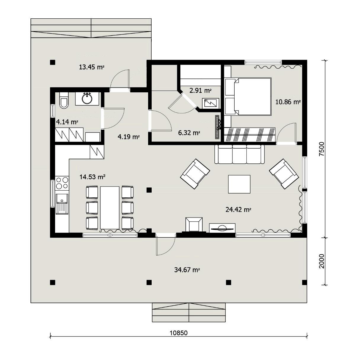 Гостевой домик планировка