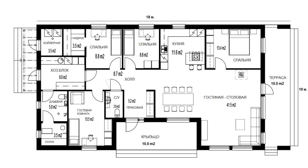 Планировка дома 160 м.кв.