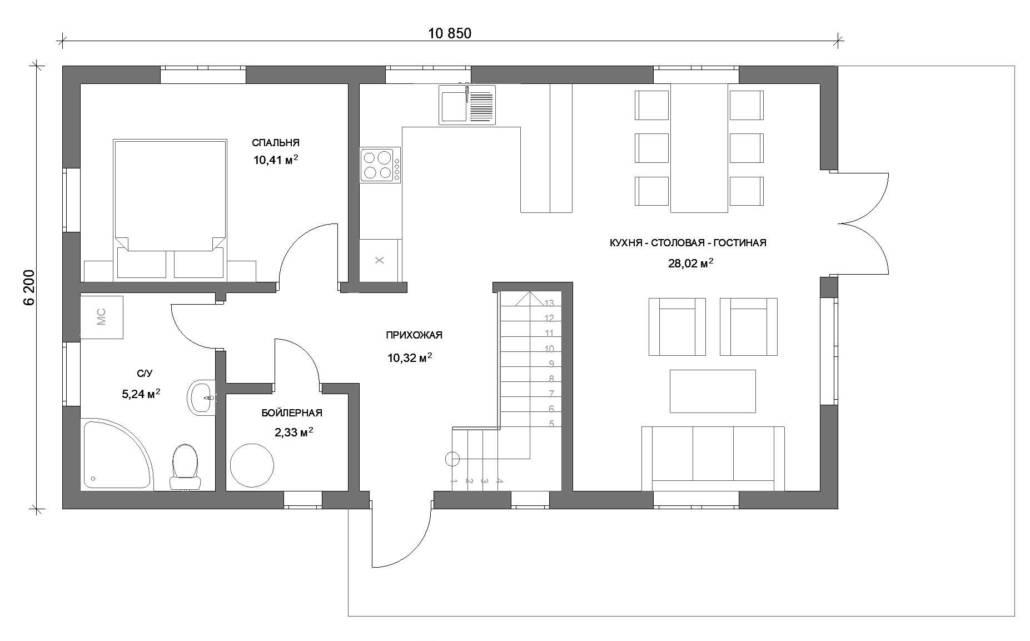 1 этаж план
