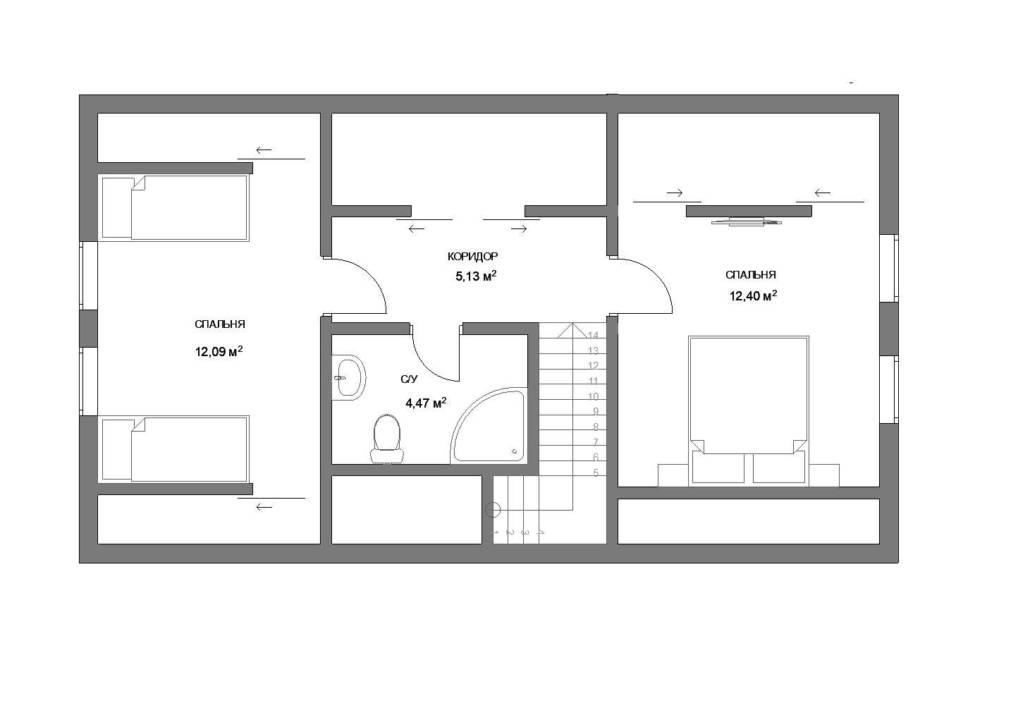 Каркасный дом планировка 2 этаж