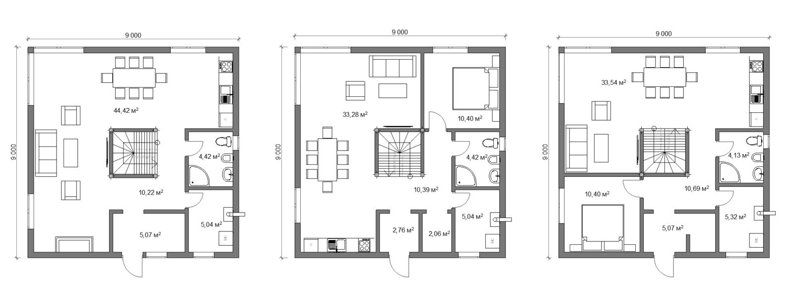 Планировка дома 1 этаж