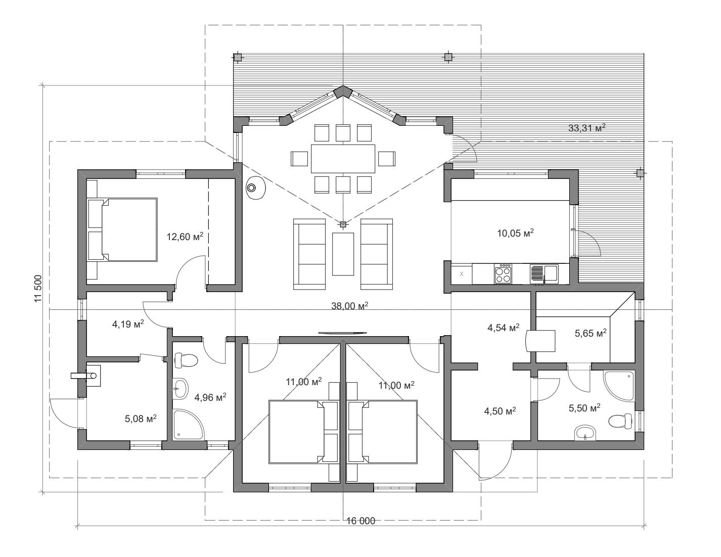 Каркасный дом 120
