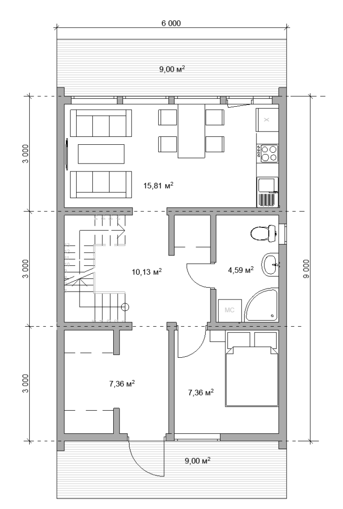 БАРН 86-2С 1 этаж