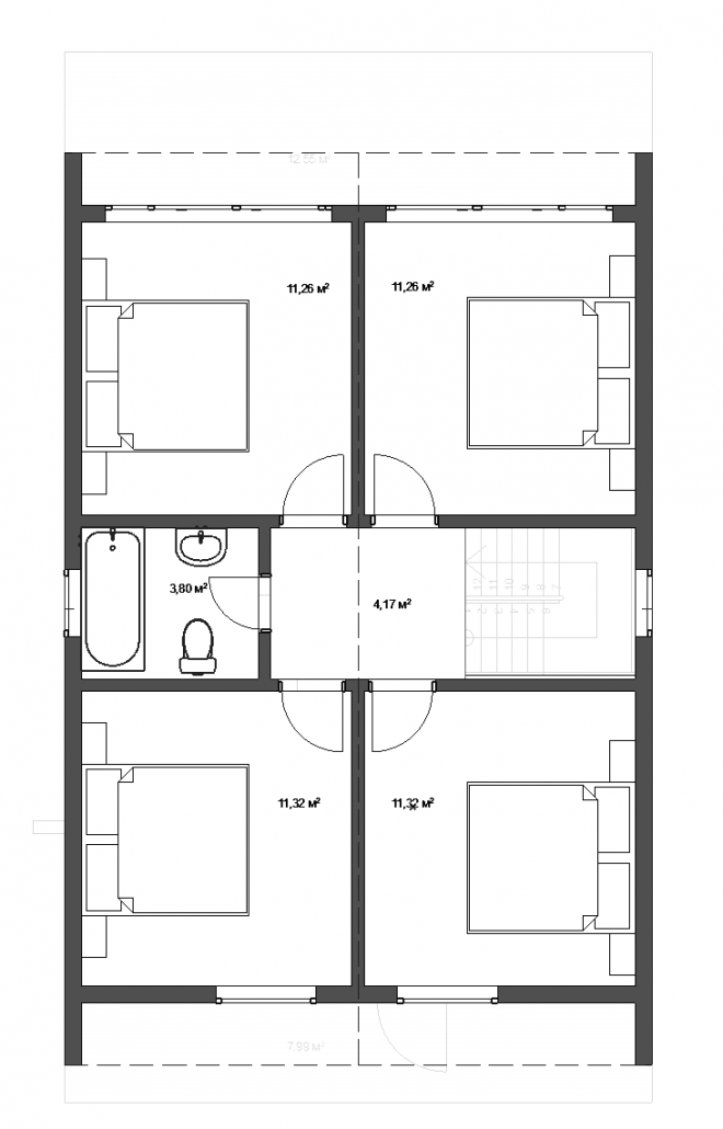 Планировка дома БАРН 2 этаж
