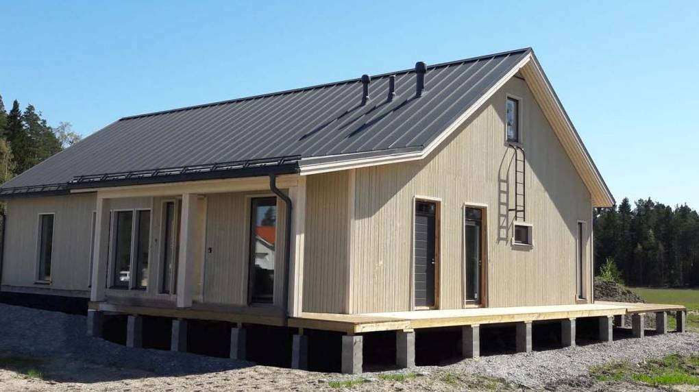 Каркасный дом на плите
