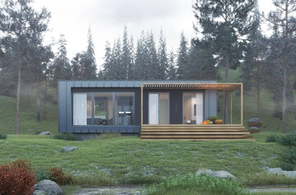 Проект небольшого модульного дачного домика