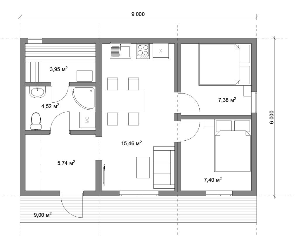 Модульный дом с баней СПб