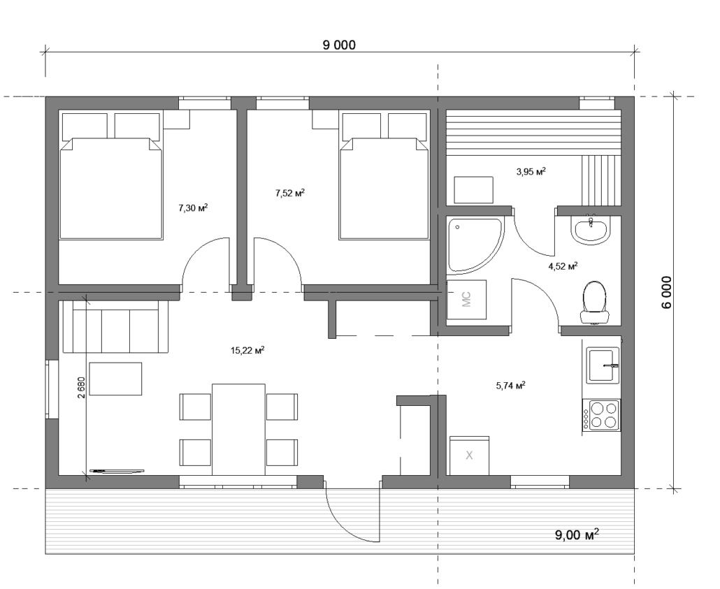 Модульный дом с сауной СПб