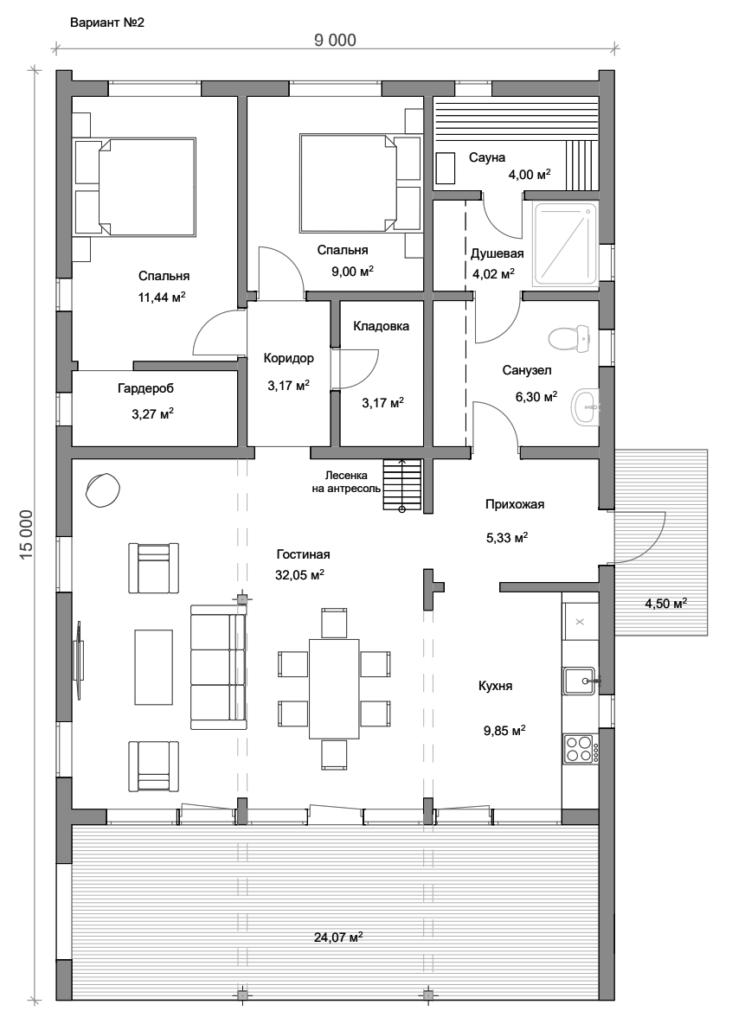 Модульный дом планировка 90 м.кв.