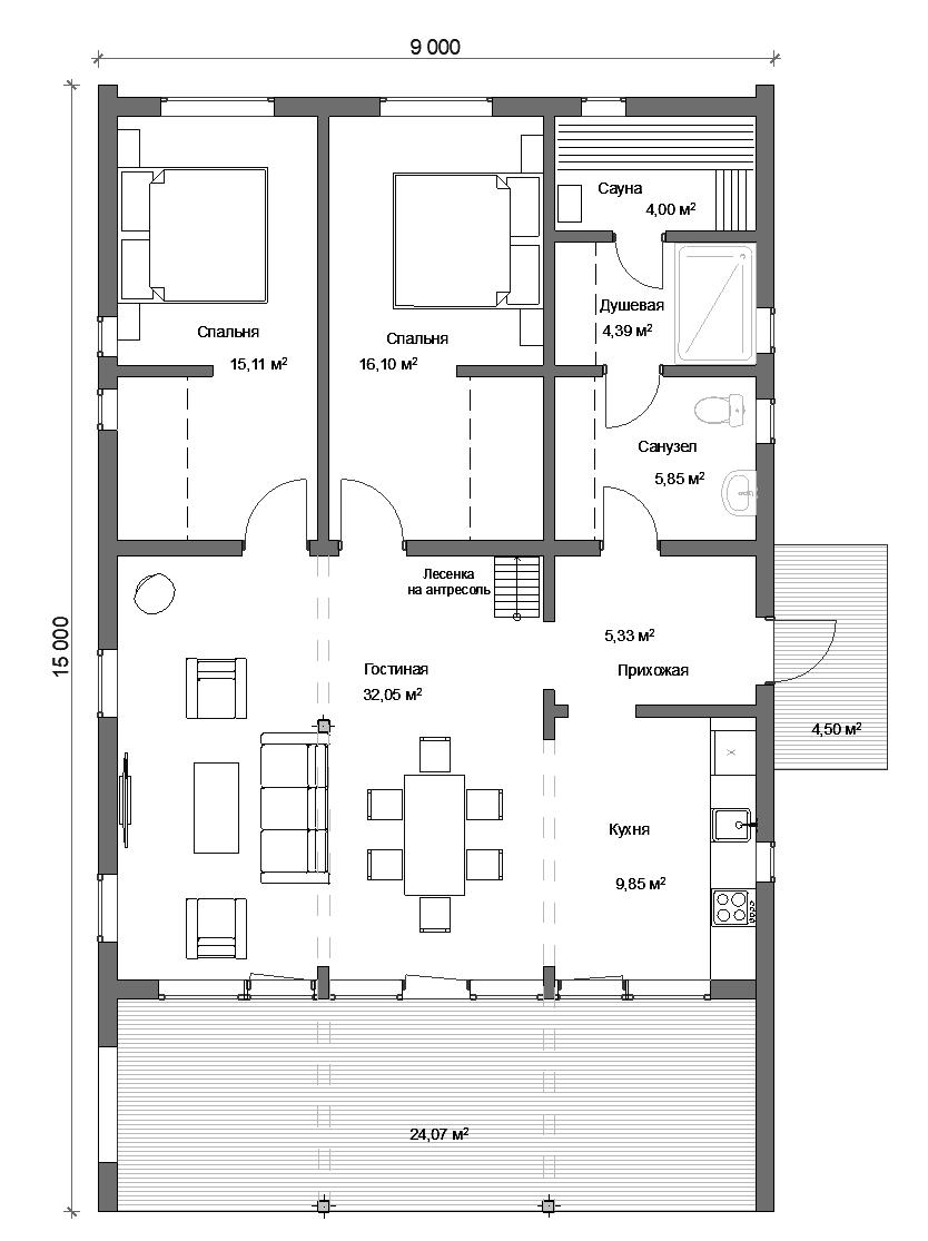 Модульный дом СПб 90 м.кв.
