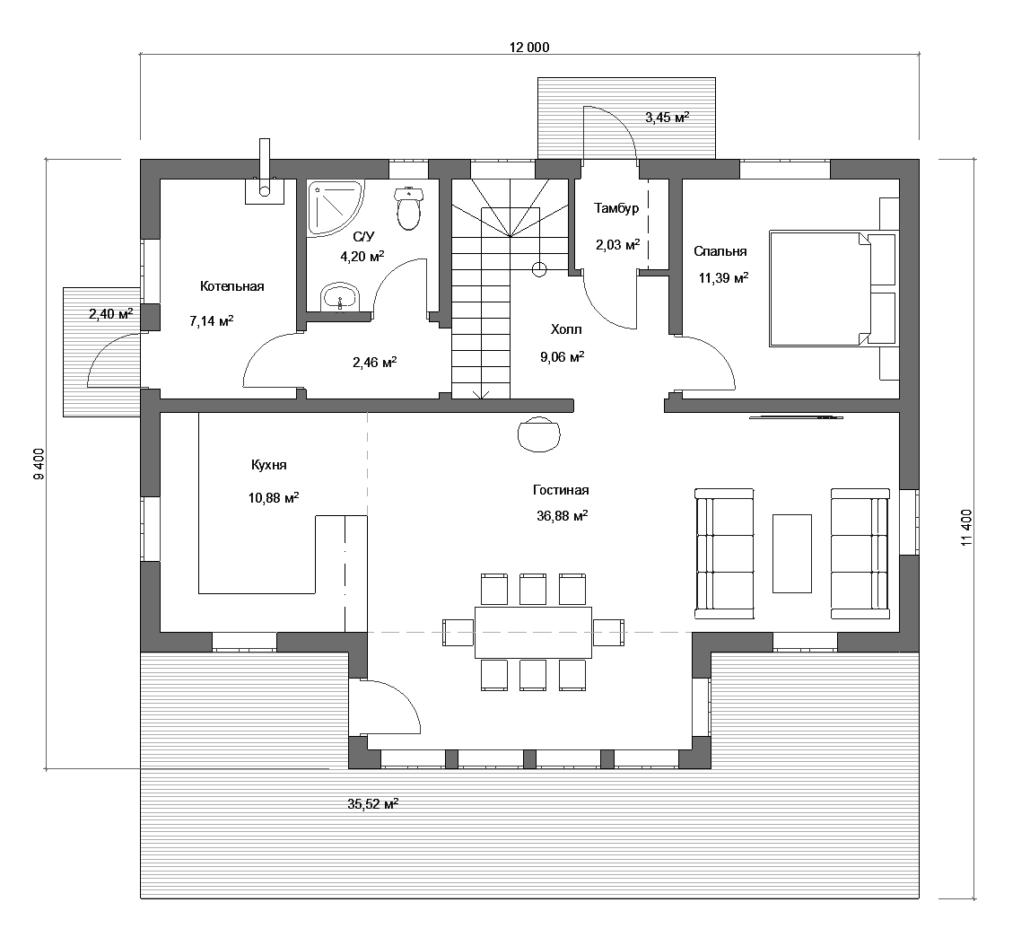 Каркасный дом проект 160