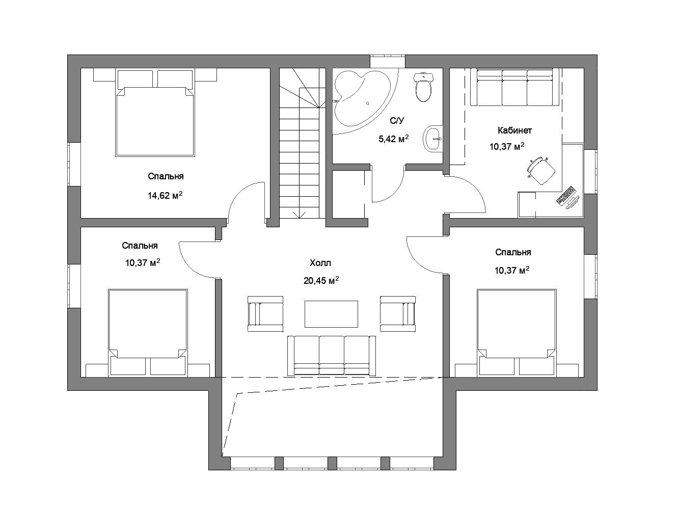 Каркасный дом 160-2